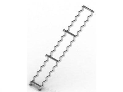 прямая одномаршевая лестница на ломаных косоурах