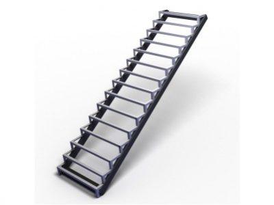 прямой каркас лестницы