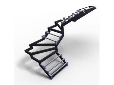 с 4-6 забежными ступенями, разворот на 180°