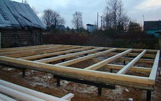 Фундамент на винтовых сваях для бани в Томске строится заводом винтовых свай АС-ВинтБур.