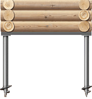Винтовые сваи в Томске, которые применяются при строительстве бань, деревянных домов и быстровозводимых домов.