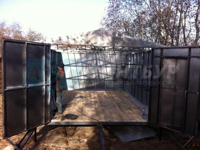 Как построить баню в гараже
