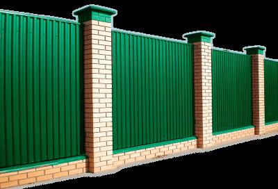 Заборы в Томске из профнастила цена с установкой под ключ, деревянные, кирпичные, заборы из сетки рабицы недорого с гарантией.