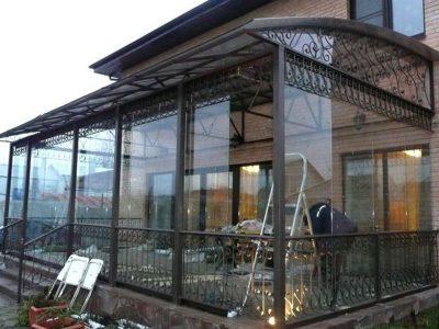 Металлические с ковкой зимние сады под ключ строительство зимних садов недорого в Томске и области.