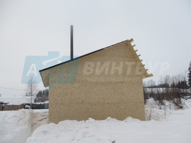 Строительство каркасного дома в Томске на винтовых сваях от завода винтовых свай АС-ВинтБур.