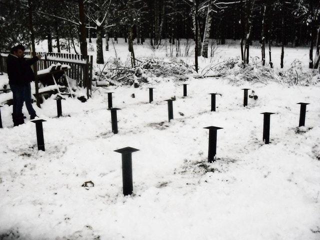 Винтовые сваи в Томске для фундамента в короткие сроки любого уровня сложности под ключ.